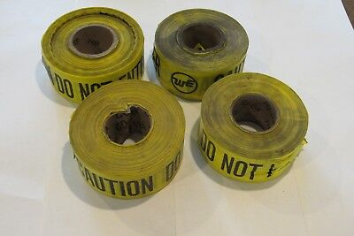 "Yellow Caution Do Not Enter ""we"" Barricade Tape Halloween Decoration 3""X900' min"
