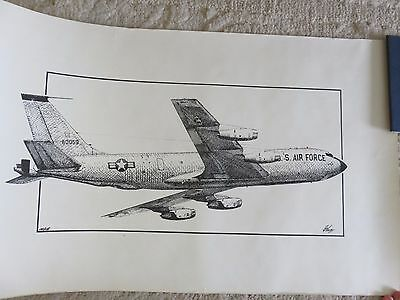 Signed Ed Walby Lithograph 137/175 US Air Force KC-135 Stratotanker RARE