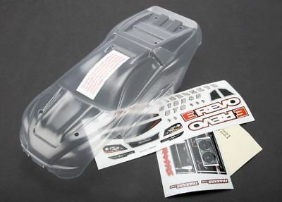 7111 - Body, 1/16 E-Revo (clear, requires painting)/ grill and lights decal shee