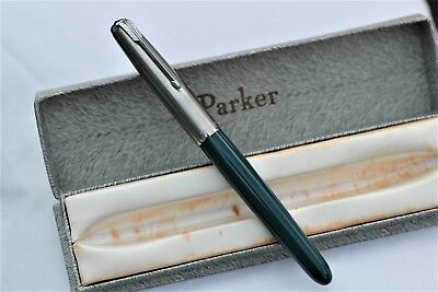 Vintage Nr MINT- PARKER 51 Classic - Fountain Pen - UK - Ding Free Cap