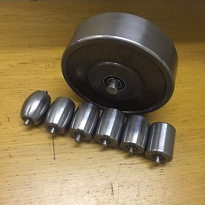 Hardened And Polished Set Of English Wheels, Top And Bottom Anvils, U.K Made