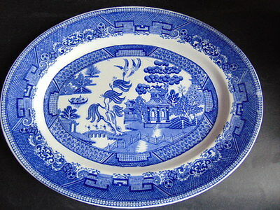 Fenton Ye Olde Willow Oval Serving Plate In Good Condition