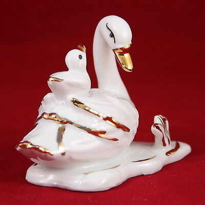 White Swan figurine (small), Russian porcelain souvenirs, Handpainted