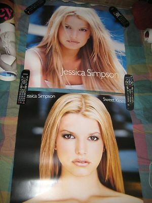 JESSICA SIMPSON-(sweet kisses)-24X24 POSTER-2 SIDED-MINT-RARE