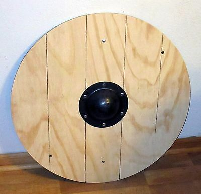 """Viking planked 24"""" round shield  SCA LARP Cosplay"""