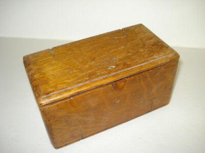 Antique Singer Oak Sewing Accessory Puzzle Box Case
