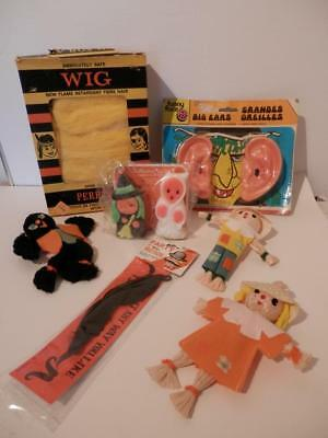 Mid-Century>1960s Lot HALLOWEEN DECORATIONS ACCESSORIES CANDLES JAPAN HONG KONG