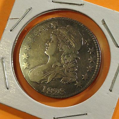1828 U.S. Capped Bust, Half Dollar /50 C, Silver Coin