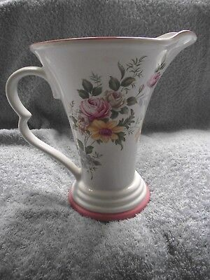 Wade - Jug/Pitcher  - Floral Design on White Background - circa 1960`s
