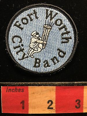 Collectible TEXAS Music Patch FORT WORTH CITY BAND 67VV
