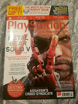 Playstation Official Magazine. Issue 111. July '15. Metal Gear Solid 5. SEALED.