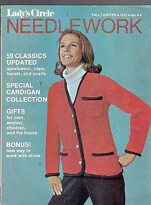 Fall/winter 1970 Lady's Circle Needlework Magazine-Special Cardigan Collection
