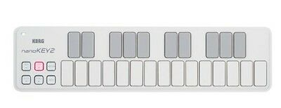 Korg nanoKEY2 Slim-Line USB Keyboard in White