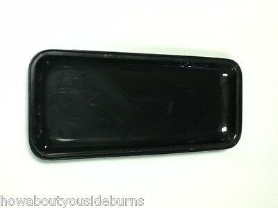 Deli restaurant bar black rectangle serving tray platter one bowl AC3