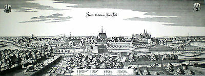 Etching King George II Childhood Hometown Ducal City Celle Germany, Rare Vintage