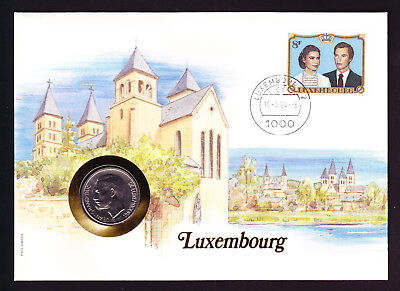 1984 Lux Luxembourg stamp and coin cover Architecture Buildings Numisbrief