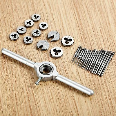 1 set Woodworking Hand Tool M1-M2.5 Thread Screw Tap Threading Die & Wrench Kit