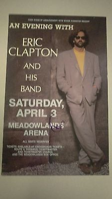 Eric Clapton Autographed New Jersey    Concert Poster