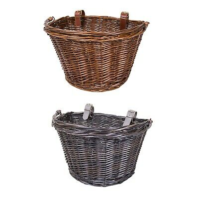 Oval Wicker Bike Bicycle Basket Shopping Basket Cycle Shopping With Handle