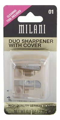 Milani Duo Sharpener with Cover, Clear