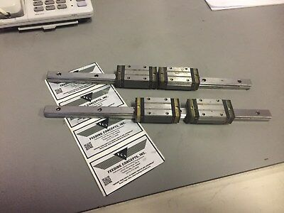 "NSK Linear Bearing and Rail  LS15 2 RAILS AND 4TRUCKS 13.5 "" RAILS"
