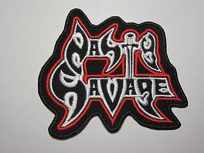 NASTY SAVAGE logo embroidered NEW patch thrash metal