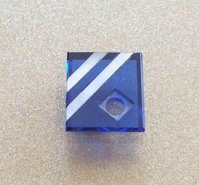SYNTHETIC SAPPHIRE AND GENUINE MOTHER OF PEARL 13x11MM DRILLED STONE LOOSE
