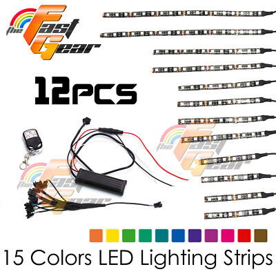 Motorclcyes LED Lighting Flexible LED Light Strip RGB Set Fit Harley Davidson