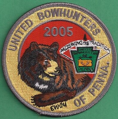 Pa Pennsylvania Fish Game Commission Related 2005 Bear United Bowhunters Patch