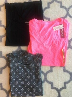 LOT OF 3 NEW TAREGET T-SHIRT & TANK TOPS MERONA VINTAGE GRAYSON TREADS Small