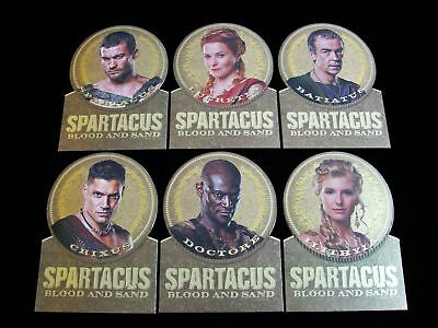 2012 Spartacus Trading Cards 'blood And Sand' Diecut Gold Medal 6 Card Subset