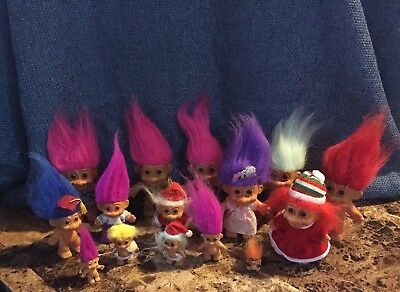 Large Lot Of 56 Troll Items- mixed Brands- Russ, Forest, ACE Novelty, TNT