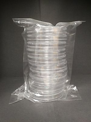 90 x 15 mm Sterile Plastic Petri Dishes Sterile 5 packs (50 plates)