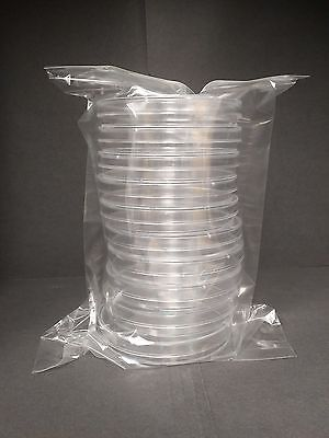 90 x 15 mm Sterile Plastic Petri Dishes Sterile 10 packs (100 plates)