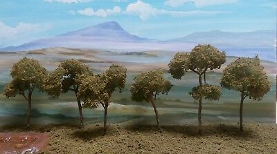 AUSTRALIAN SLENDER MODEL GUM TREES  HO. N SCALE. 6 Set.
