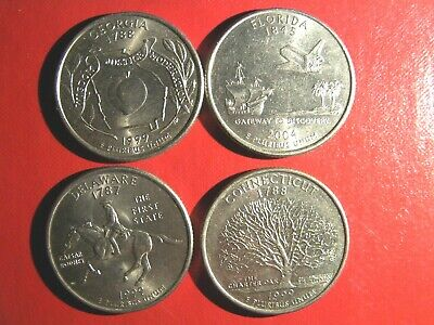 chose 4 American State parks quarters USA 25 cent popular collectible coins