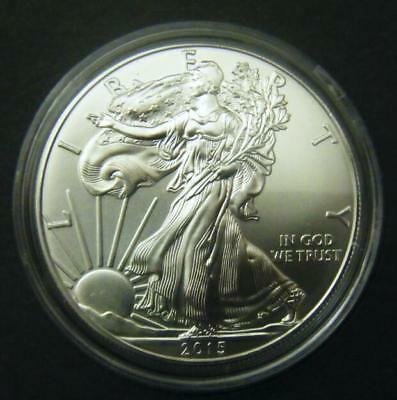 2015 1oz Silver American Eagle Bullion coin .999 Fine One dollar BU uncirculated