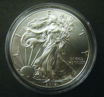 2012 1oz Silver American Eagle Bullion coin .999 Fine One dollar BU uncirculated