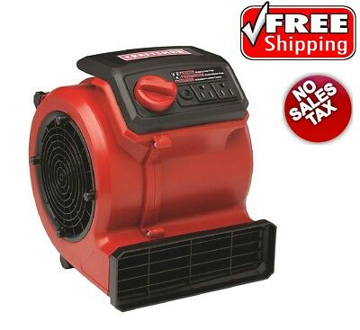 Craftsman Portable Air Mover for Drying Floors Carpets Walls Ceiling Home Garage
