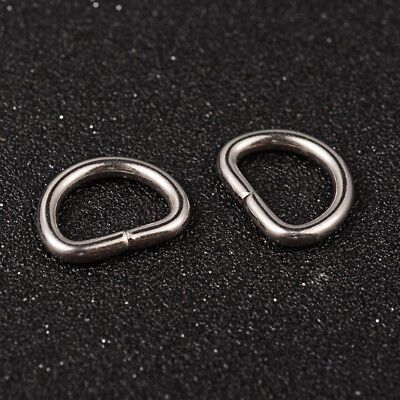 20pcs 304 Stainless Steel Strong Oval Jump Rings Key Clasps Findings 15x19x3mm