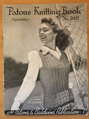 Patons & Baldwins Specialty Vintage  Knitting Pattern book no.160
