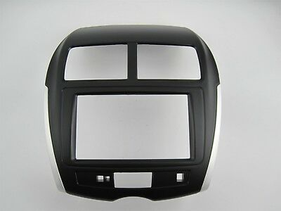 Fascia for Mitsubishi ASX RVR facia plate panel dash kit radio cover install kit
