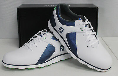 FootJoy Pro/SL Spikeless Mens Golf Shoes - White Blue - #53584