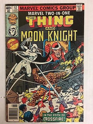 Marvel Two-In-One #52 (1979) Marvel VF/NM Thing Moon Knight 1st Crossfire