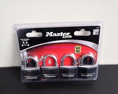 Lot Of 4 Master Locks With Keys Never Been Used Still In Packaging +++