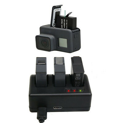 Multifunctional 3 Channel Triple Battery Charger for GoPro HERO5 MagiDeal