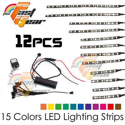 Motorclcyes LED Lighting Flexible LED Light Strip RGB Set Fit Suzuki