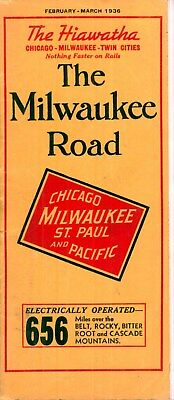 The Milwaukee Road, System passenger time table  January 23, 1936 - 47 pages