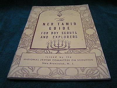 "Vintage NER TAMID GUIDE Jewish Boy Scouts - 1955 - 5 1/4"" x 8"" 58 pages FREESHIP"