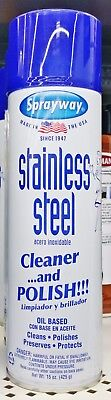 1 SPRAYWAY STAINLESS STEEL CLEANER & POLISH Oil Based Clean Polish Protect 15 oz